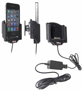 Brodit Active Charging Holder for Apple iPhone 4 for Fixed Installation