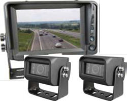 Cko-5 inch monitor and night vision cameras x2