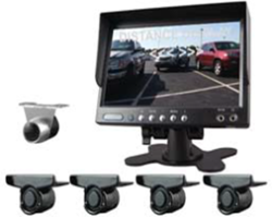 Cko-7 inch monitor + senors + camera with audio alert