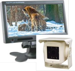 Cko-7 inch monitor white camera and microphone