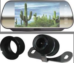 Cko-mirror monitor with bumper mount camera